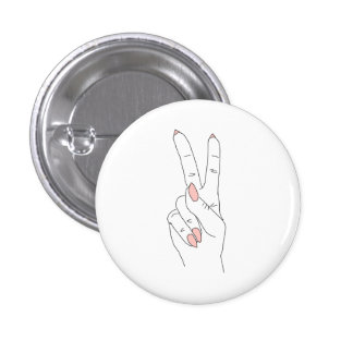 Peace Out Round Fashion Button