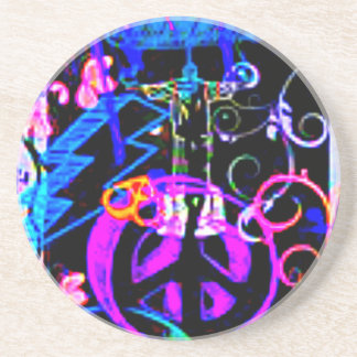Peace Out Susie Beverage Coasters