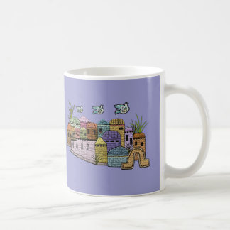 Peace over Jerusalem Basic White Mug