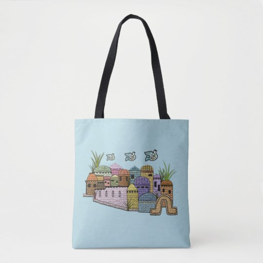 Peace over Jerusalem Tote Bag