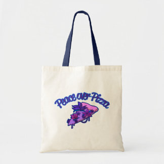 Peace Over Pizza Tote Bag