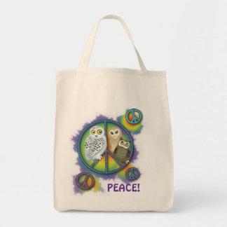 Peace Owl~tote bag