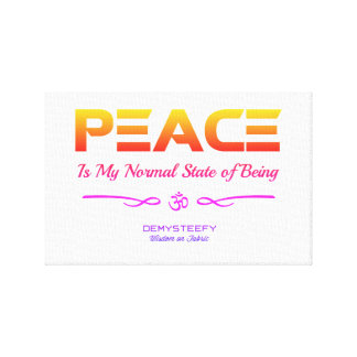 PEACE PAINTING CANVAS PRINT