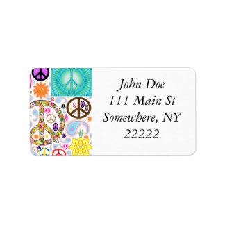 Peace & Paisley Collage Address Label