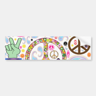 Peace & Paisley Collage Bumper Sticker