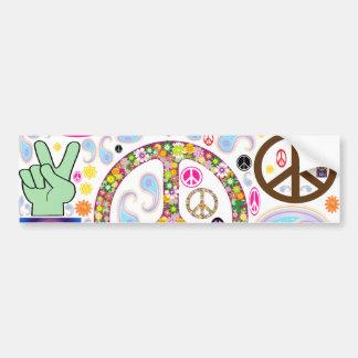 Peace & Paisley Collage Bumper Sticker