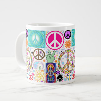Peace & Paisley Collage Jumbo Mug