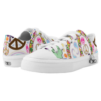 Peace & Paisley Collage Low Tops