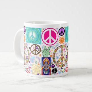 Peace & Paisley Collage 20 Oz Large Ceramic Coffee Mug