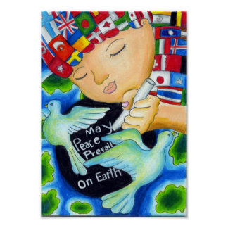 Peace Pals ~ May Peace Prevail On Earth Poster