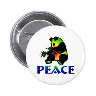 Peace Panda Bear 6 Cm Round Badge
