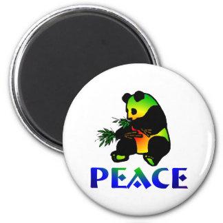 Peace Panda Bear 6 Cm Round Magnet