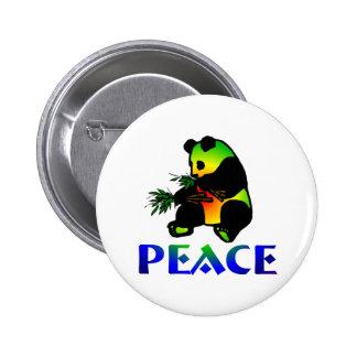 Peace Panda Bear 6 Cm Round Badge