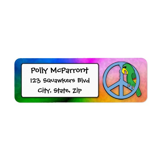 Peace Parrot Return Address Label