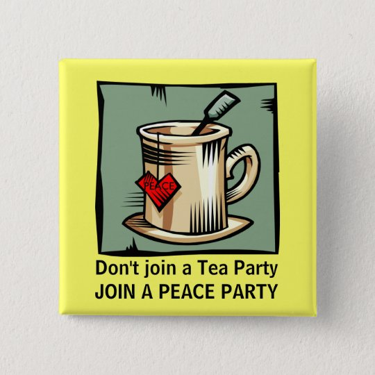 PEACE PARTY MOVEMENT 15 CM SQUARE BADGE