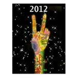 Peace Party New Year's 2012 Post Cards