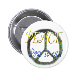 Peace - Pass it on Button