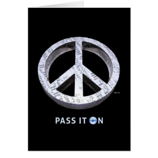 Peace: Pass It On Greeting Card