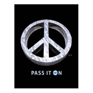 Peace: Pass It On Postcard