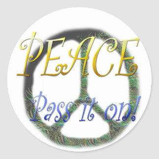 Peace - Pass it on Stickers