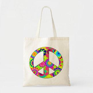 peace,peace symbol budget tote bag