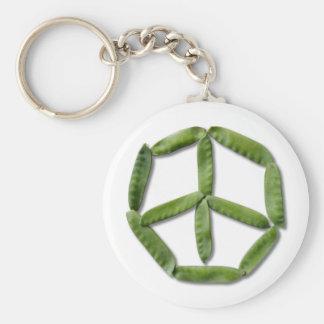 Peace Peas 2 Keychain