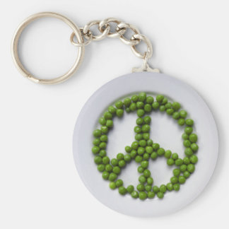 Peace Peas Keychain