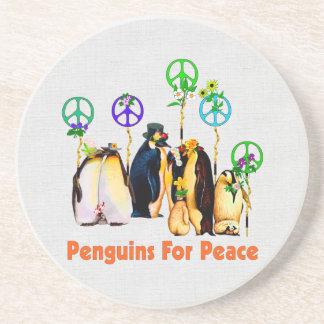 Peace Penguins Coaster