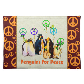 Peace Penguins Placemat