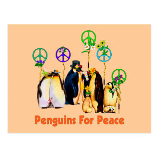 Peace Penguins Postcard