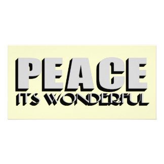 peace photo greeting card