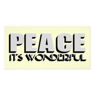 peace photo greeting card
