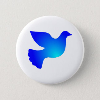 Peace pigeon peace dove 6 cm round badge