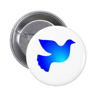 Peace pigeon peace dove button