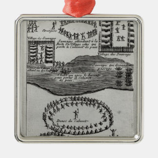 Peace pipe dance of the Iroquois Christmas Ornament