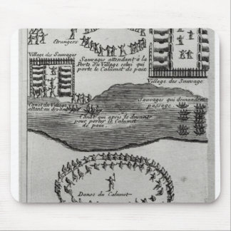 Peace pipe dance of the Iroquois Mouse Mat