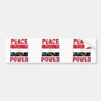 Peace Power Vintage Bumper Sticker