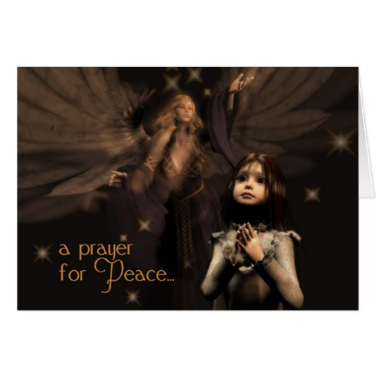 Peace Prayer Christmas Card