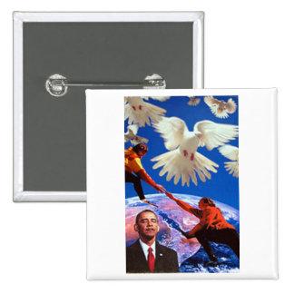 Peace President 15 Cm Square Badge