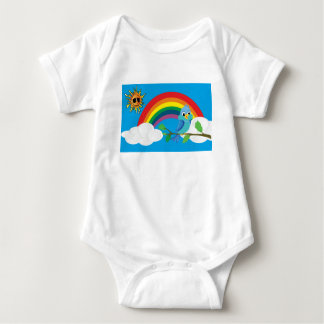 Peace rainbow baby bodysuit