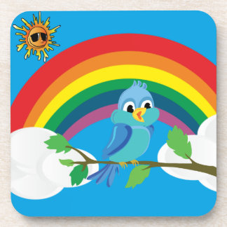 Peace rainbow coaster