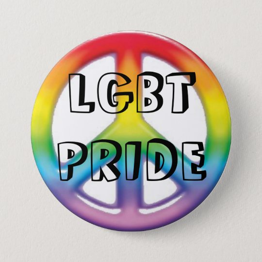 peace rainbow, LGBT PRIDE 7.5 Cm Round Badge