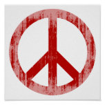 peace red Faded.png Print