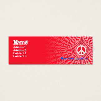 Peace Red - Skinny Mini Business Card