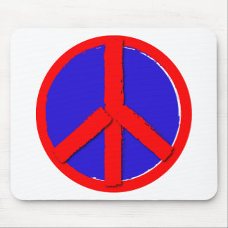 Peace - Red white and blue Mousepad