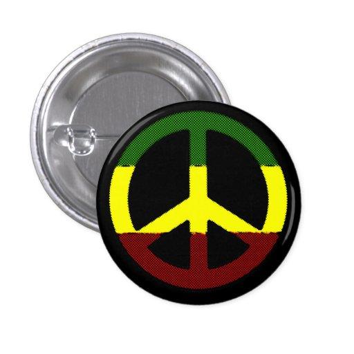 Peace Reggae Pinback Buttons