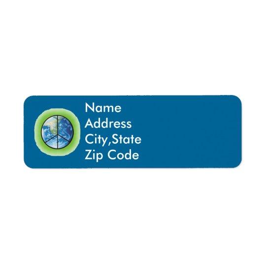 Peace Return Address Labels