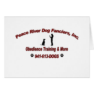 Peace River Dog Fanciers Greeting Card