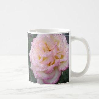Peace Rose, after the rain. Basic White Mug