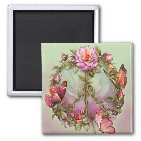 Peace Roses Art Magnet
